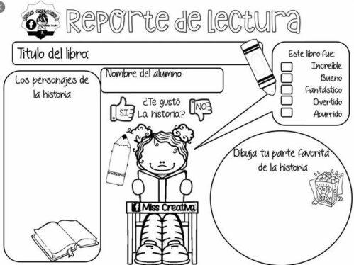 reporte de lectura para imprimir